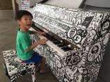 People having fun at Play Me, I'm Yours Singapore tour, Jaeden