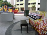 People having fun at Play Me, I'm Yours Singapore tour, Piano at Teck Whye Ave Blk 7