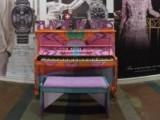People having fun at Play Me, I'm Yours Singapore tour, Piano at Serangoon Plaza
