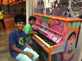 People having fun at Play Me, I'm Yours Singapore tour, Junaid and Armaan