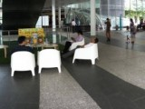 People having fun at Play Me, I'm Yours Singapore tour, Piano at Fusionopolis