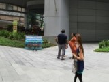 People having fun at Play Me, I'm Yours Singapore tour, Piano at Biopolis