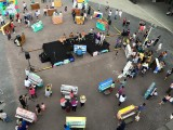 Official Launch of Play Me, I'm Yours Singapore, Aerial view of all the pianos