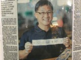 "Dignity Kitchen takes part in ""Play Me, I'm Yours"" Singapore 2016, Newspaper clipping of Koh Seng Choon"