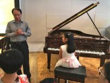 Launch of 3rd Steinway Youth Piano Competition 2016, Professor Yu Chun Yee giving advice to Chen Jing