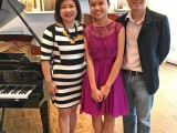 Launch of 3rd Steinway Youth Piano Competition 2016, Corinna Chang, Nicole Tay Wan Ni, and Sng Yong Meng
