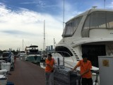 Pianovers Sailaway Pre-Event Shoot, Pianos being moved to the yacht