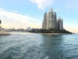 Pianovers Sailaway Pre-Event Shoot, Panoramic view of the landscape as the yacht sails off