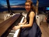 Pianovers Sailaway Pre-Event Shoot, Karina playing