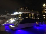 Pianovers Sailaway Pre-Event Shoot, Eagle Wings Yacht seen at night