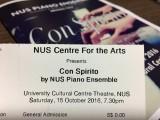 NUS Piano Ensemble, Con Spirito, Ticket