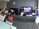 Lesson #1 by Zensen with his Acosean Method, Panoramic view of Zensen's class