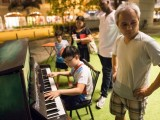 Pianovers Meetup #17, Jun En playing, with his father standing beside