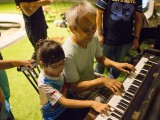 Pianovers Meetup #17, Chee Beng playing with his daughter, Shi Qi