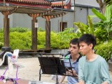 Car-Free Sunday SG (Nov 2016), Joseph, and Kenneth busking