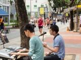 Car-Free Sunday SG (Nov 2016), Joseph, and Kenneth busking along Telok Ayer St