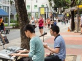 Car-Free Sunday SG (Nov 2016), Joseph, and Kenneth busking along Telok Ayer St