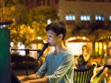 Pianovers Meetup #18, Joseph Lim playing the piano, and singing at the same time