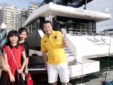 Pianovers Sailaway 2016, Pre-boarding picture of Eric Teo and his family