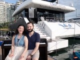 Pianovers Sailaway 2016, Pre-boarding picture of Vanessa Yu, and Mitchell Chapman