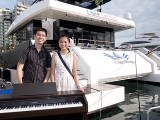 Pianovers Sailaway 2016, Pre-boarding picture of Mark Sim, and Lee Cai Ping