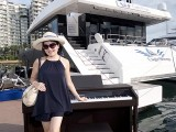 Pianovers Sailaway 2016, Pre-boarding picture of Julia Goh