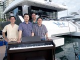 Pianovers Sailaway 2016, Pre-boarding picture of Chris Khoo, Jerome, Zensen, and Gee Yong