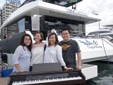 Pianovers Sailaway 2016, Pre-boarding picture of Dorothy, Kailing, Junn, and Jonathan