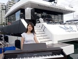 Pianovers Sailaway 2016, Pre-boarding picture of Lorraine Li
