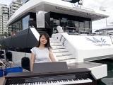Pianovers Sailaway 2016, Pre-boarding picture of Lorraine Li