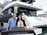 Pianovers Sailaway 2016, Pre-boarding picture of Sng Yong Meng, and Elyn Goh