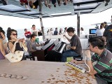 Pianovers Sailaway 2016, Gee Yong, and Mark Sim, joined by Zensen on his pianica