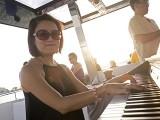 Pianovers Sailaway 2016, Julia Goh playing on the flybridge