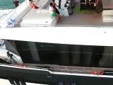 Pianovers Sailaway 2016, Aerial shot of the yacht #4, with 2 pianos on the flybridge