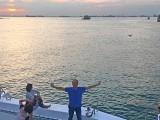 Pianovers Sailaway 2016, Yong Meng with sunset backdrop