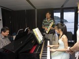 Pianovers Sailaway 2016, Gee Yong and Yu Tong on the piano, with Zensen on his pianica