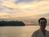 Pianovers Sailaway 2016, Chris Khoo with a sunset backdrop