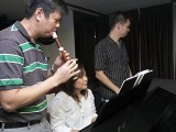 Pianovers Sailaway 2016, Zensen on his recorder, and Junn on the piano