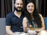 Pianovers Sailaway 2016, Buffet dinner, Mitchell Chapman and Vanessa Yu