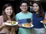 Pianovers Sailaway 2016, Buffet dinner, Mei Ting, Jim and Xuefen