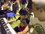Pianovers Meetup #21, Chee Beng and his kids jamming at the pianos
