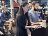 Pianovers Meetup #22, Vanessa and Mitchell performing