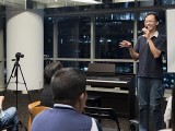 Pianovers Meetup #22, William sharing with us