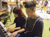 Pianovers Meetup #24, Alicia, and Jun Hao playing