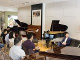 Conferment Ceremony of Steinway Artist, Benjamin Loh, Interviewing taking place
