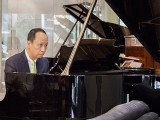 Conferment Ceremony of Steinway Artist, Benjamin Loh, Benjamin playing the piano