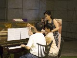 Pianovers Meetup #34, Chris performing, and Joseph and May Ling helped with the scores