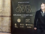Adam Gyorgy Concert with Pianovers, Banner poster at Esplanade Concert Hall entrance