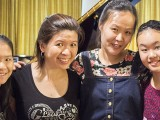 Recital by Christabel Lee, Christabel with family members #1
