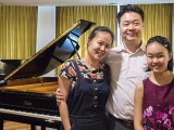 Recital by Christabel Lee, Christabel with parents